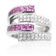 .32ct Diamond Pink Tourmaline 18k White Gold Ring