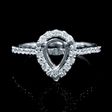 .42ct Diamond Antique Style 18k White Gold Engagement Ring Setting