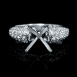 .96ct Diamond Platinum Engagement Ring Setting