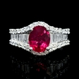 .92ct Diamond and Rubellite 18k White Gold Ring