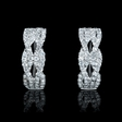 .73ct Diamond 18k White Gold Huggie Earrings