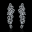 1.44ct Diamond 18k White Gold Dangle Earrings