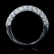 1.81ct Diamond 18k White Gold Wedding Band Ring