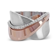 0.12ct Simon G Diamond 18k White and Rose Gold Ring