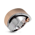 0.11ct Simon G Diamond 18k White and Rose Gold Ring