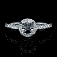 .35ct Diamond 18k White Gold Halo Engagement Ring Setting