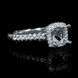 .26ct Diamond 18k White Gold Halo Engagement Ring Setting