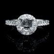 .59ct Diamond 18k White Gold Halo Engagement Ring Setting