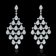 4.34ct Diamond 18k White Gold Dangle Earrings