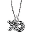 Charles Krypell Small Sterling Silver Hugs and Kisses Necklace