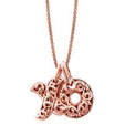 Charles Krypell Large 18k Rose Gold Hugs and Kisses Necklace