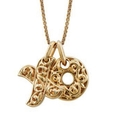Charles Krypell Large 18k Yellow Gold Hugs and Kisses Necklace