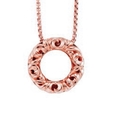 Charles Krypell 18k Rose Gold Pink Sapphire I Love You Necklace