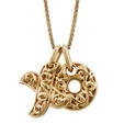 Charles Krypell Small 18k Yellow Gold Two Hearts Beat As One Necklace
