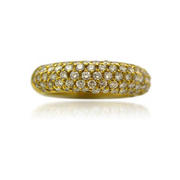 Leo Pizzo Diamond 18k Yellow Gold Wedding Band Ring