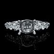 1.30ct Diamond 18k White Gold Engagement Ring Setting