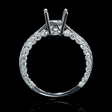 .61ct Diamond 18k White Gold Engagement Ring Setting