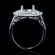 .82ct Diamond 18k White Gold Halo Engagement Ring Setting