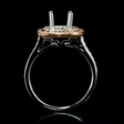 .37ct Diamond 18k Two Tone Gold Halo Engagement Ring Setting
