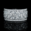 3.44ct Diamond 18k White Gold Ring