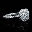 1.12ct Diamond 18k White Gold Ring
