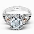 .53ct Simon G Diamond 18k Two Tone Gold Passion Collection Engagement Ring Setting