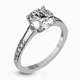 .41ct Simon G Diamond 18k White Gold Passion Collection Engagement Ring Setting