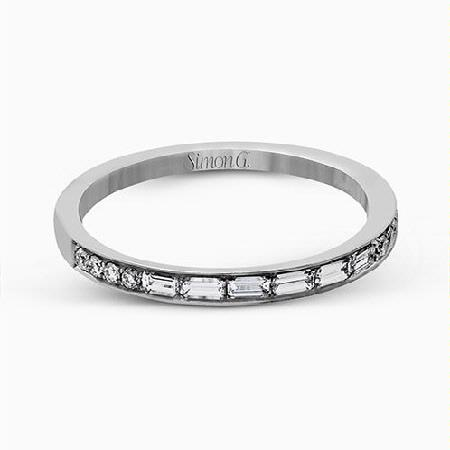 Simon G Diamond 18k White Gold Passion Collection Wedding Band