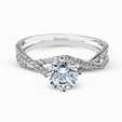 .15ct Simon G Diamond 18k White Gold Passion Collection Engagement Ring Setting