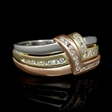 .38ct Diamond 18k White and Rose Gold Ring