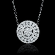 1.22ct Diamond 18k White Gold Pendant Necklace