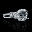 .62ct Diamond 18k White Gold Halo Engagement Ring Setting