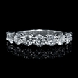 1.74ct Diamond 18k White Gold Wedding Band Ring