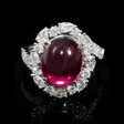 1.43ct Diamond and Rhodolite 18k White Gold Ring