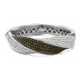 5.18ct Leo Pizzo Diamond 18k White Gold Bangle Bracelet