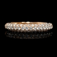 .64ct Diamond 18k Rose Gold Wedding Band Ring