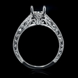 .16ct Diamond 18k White Gold Engagement Ring Setting