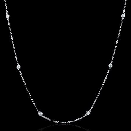 .82ct Diamond 18k White Gold Necklace