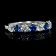 .70ct Diamond and Blue Sapphire 18k White Gold Ring