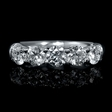1.24ct Diamond 18k White Gold Wedding Band Ring
