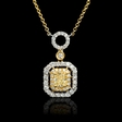 .50ct Diamond 18k Two Tone Gold Pendant Necklace