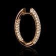 3.08ct Diamond 18k Rose Gold Hoop Earrings