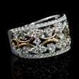 1.22ct Diamond 18k White and Yellow Gold Ring