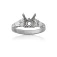 .49ct Diamond Antique Style 18k White Gold Engagement Ring Mounting