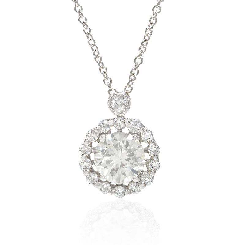 Ct simon g diamond 18k white gold pendant necklace 118ct simon g diamond 18k white gold pendant necklace audiocablefo