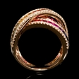 .78ct Diamond and Multi-Colored Sapphire 18k Rose Gold Ring