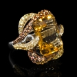 14.89ct Citrine and Yellow Sapphire 18k White Gold Ring