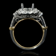 1.13ct Diamond 18k Two Tone Gold Halo Engagement Ring Setting