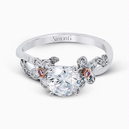Simon G 18k White Gold Engagement Ring Setting