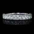 .78ct Diamond 18k White Gold Wedding Band Ring